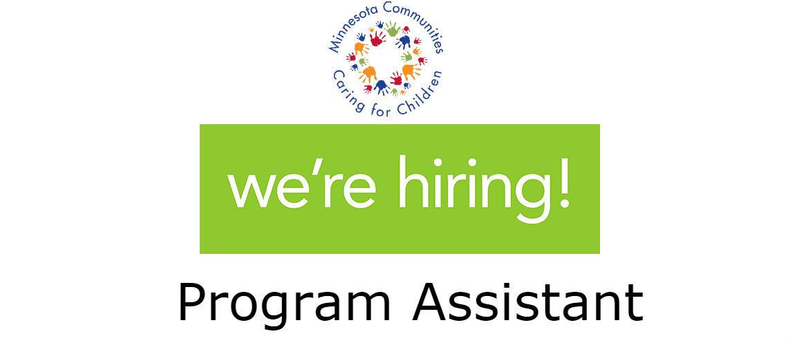 We're Hiring! Program Assistant