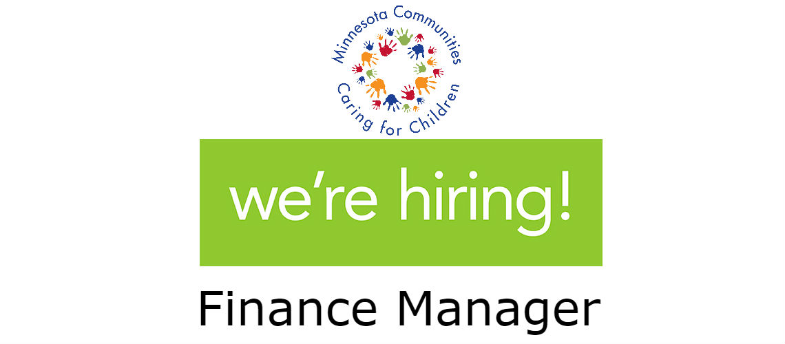 We're Hiring! Finance Manager